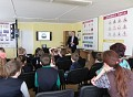 Saugaus eismo dienos minėjimas vyko įkurtoje specializuotoje saugaus eismo klasėje